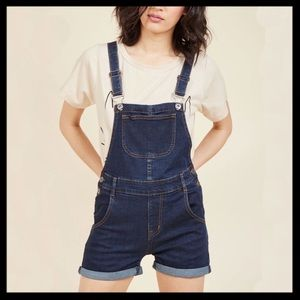 NWT Modcloth Make Shortall Work Of It Overalls